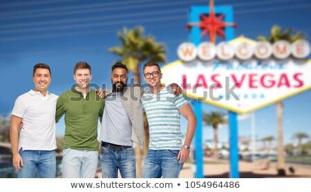Foto stock: Grupo · masculino · amigos · Las · Vegas · assinar