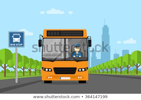Bus Driver Driving a Bus Illustration Stock photo © artisticco