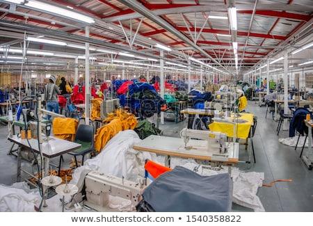 Włókienniczych tkaniny fabryki działalności technologii tle Zdjęcia stock © BrunoWeltmann