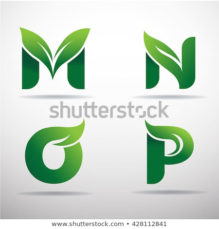 Zöld logotípus logo m betű felirat ikon Stock fotó © blaskorizov