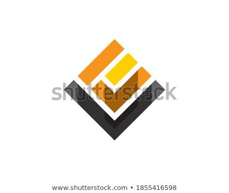 letter u square rotation logo vector Stock photo © blaskorizov