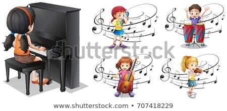 異なる 音符 ポスター 実例 背景 ジャズ ストックフォト © colematt