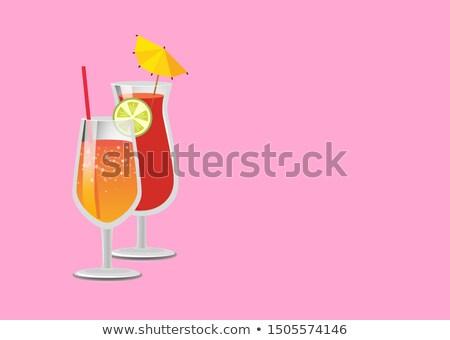bebidas · cartaz · limonada · coquetel · vidro · cocktails - foto stock © robuart