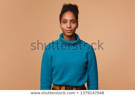 Fotó vonzó afroamerikai nő afro hajviselet Stock fotó © deandrobot