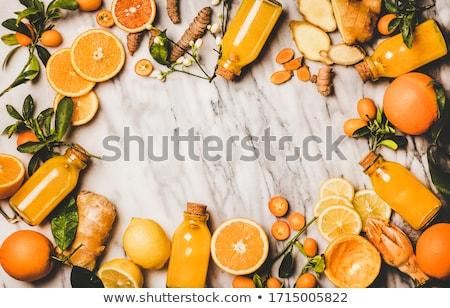 üveg · narancslé · gyümölcsök · zöldségek · egészséges · étkezés · étel - stock fotó © dolgachov