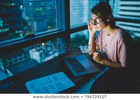 Designer számítógép dolgozik iroda üzlet határidő Stock fotó © dolgachov