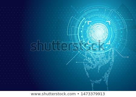 Identification Poster Illuminated Digital Data Stock photo © robuart