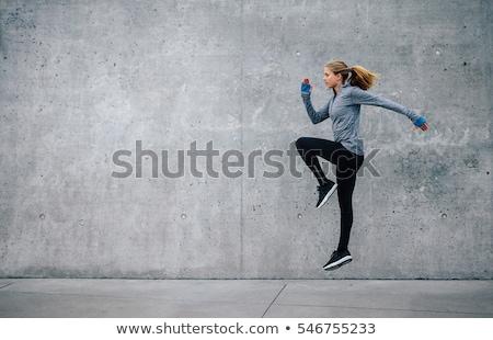 woman doing sports exercises stock photo © doodko