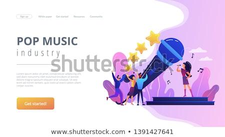 Divat ipar leszállás oldal designer csapat Stock fotó © RAStudio