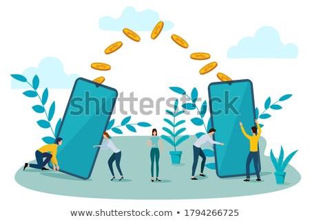 интернет онлайн доходы изометрический стороны ноутбука Сток-фото © -TAlex-