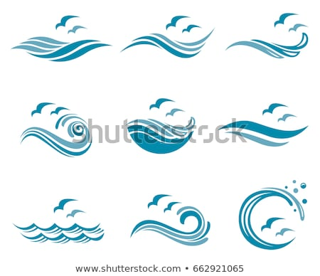 Stock photo: logo blue water wave tourism symbol element