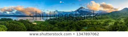 View of the Arenal volcano in Costa Rica at sunrise Stock photo © Lopolo