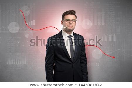 病気 · ビジネスマン · パフォーマンス · 小さな · 悲しい · スーツ - ストックフォト © ra2studio