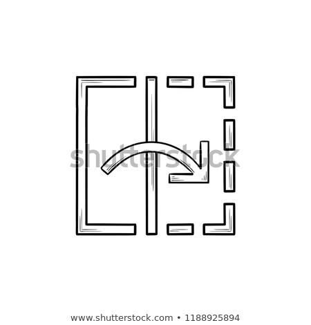 Transform tool hand drawn outline doodle icon. Stock photo © RAStudio