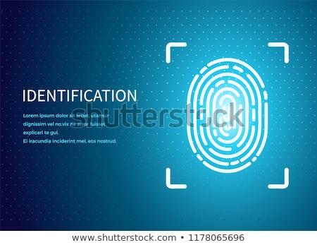 Azonosítás ujjlenyomat poszter megvilágított adat ujjlenyomatok Stock fotó © robuart