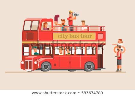 Man Rood bus miniatuur typisch Stockfoto © nito