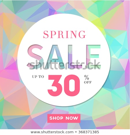 Spring sale poster, up to 30 off, vector illustration. Stock photo © ikopylov