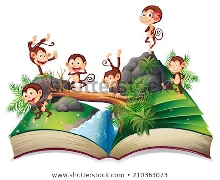 開いた本 ジャングル ツリー 自然 デザイン 芸術 ストックフォト © colematt