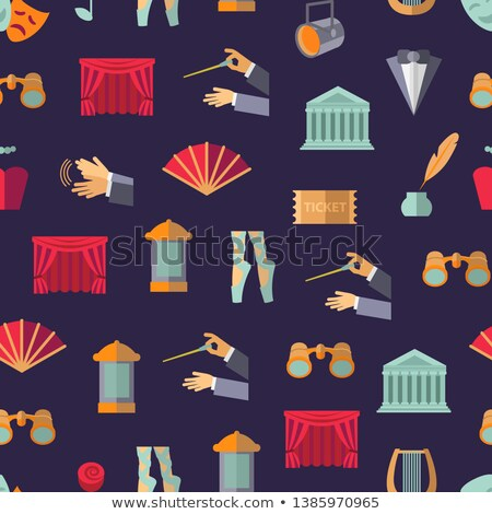theater flat icons pattern stock photo © netkov1