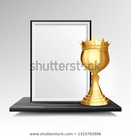 Certificaat diploma gouden beker vector business Stockfoto © pikepicture