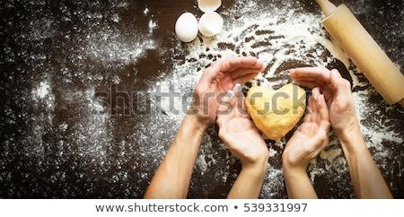 Fırıncı ekmek Noel gün örnek arka plan Stok fotoğraf © colematt