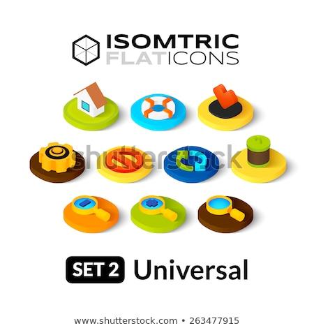 Geometria kolor izometryczny ikona eps 10 Zdjęcia stock © netkov1