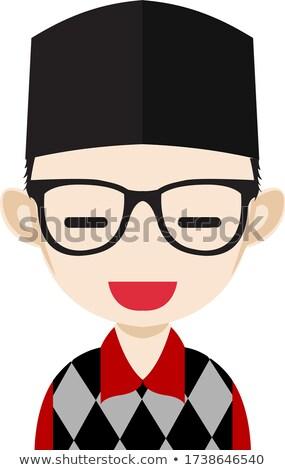 Arab muslim teen girl vettore adolescente faccia Foto d'archivio © pikepicture