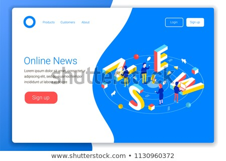 Internet aterrissagem página pessoas de negócios Foto stock © RAStudio