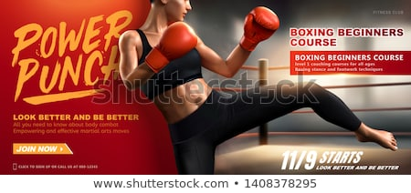 3d illustration of boxer fighter kicking Stock photo © ribah