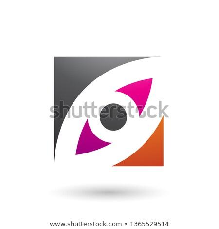 Nero magenta arancione occhi piazza Foto d'archivio © cidepix