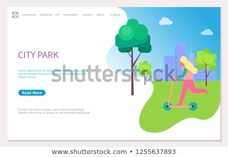 gebouwen · groene · landschap · hemel · architectuur · heuvel - stockfoto © robuart
