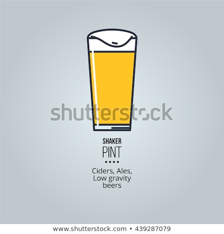 Shaker Pint Beer Pint Stock photo © albund