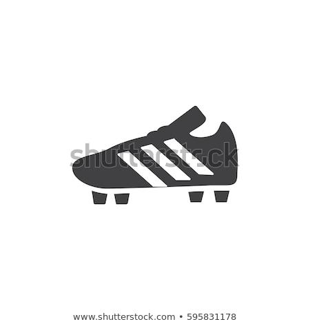 ペア サッカー ブーツ アイコン ステンシル デザイン ストックフォト © angelp