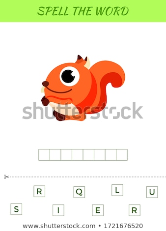 spelling word scramble game with word squirrel stock photo © colematt