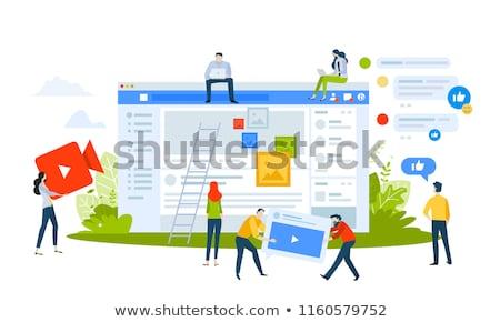 Media marketing business abstract technologie teken Stockfoto © makyzz