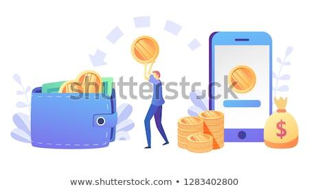 Business Cash or Money Presentation, Coins Vector Stockfoto © robuart