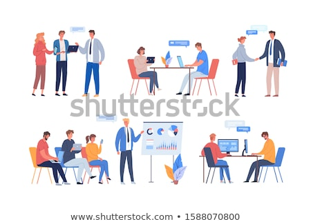 Business Office Workers and IT Programmers Teams Foto stock © robuart