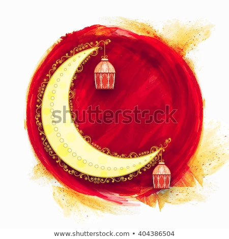 hanging islamic lamps decoration ramadan kareem background Stock photo © SArts