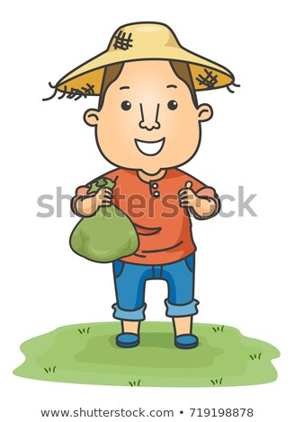 Man Farmer Money Bag Okay Illustration Stock photo © lenm