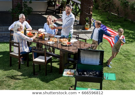 Stock photo: 4th of July Family BBQ