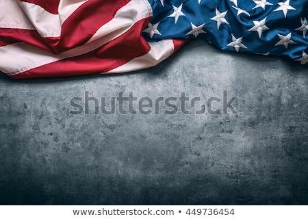 Stock fotó: American Flag On Concrete Background