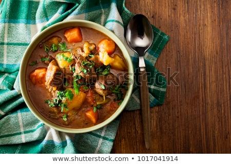 シチュー 肉 ジャガイモ フライド 野菜 食品 ストックフォト © tycoon
