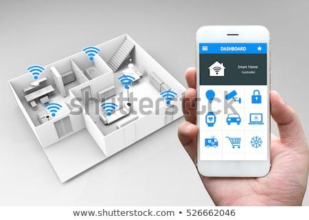 Internet coisas inteligente casa automação on-line Foto stock © MarySan