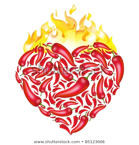 Pepper Heart Flame Stock photo © sifis