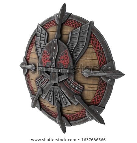 Gladiador armadura escudo batalha arena ilustração Foto stock © jossdiim