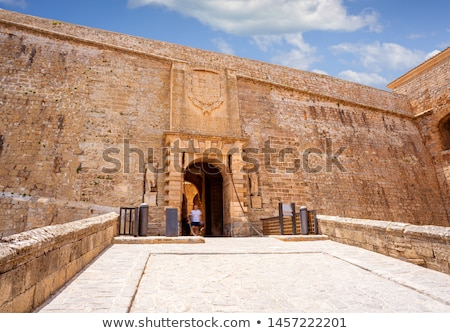 ibiza door to dalt vila of portal ses taules stock photo © lunamarina