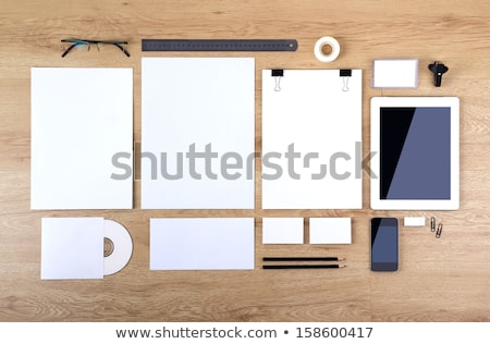 Pile of Papers Documents with Pencil and Ruler Set Stock photo © robuart