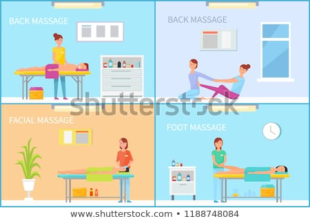 Back and Foot Massage Methods Posters Set Vector Stock photo © robuart