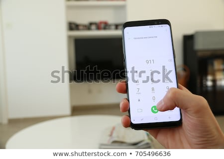 911 tekst 3d illustration geïsoleerd witte brand Stockfoto © montego