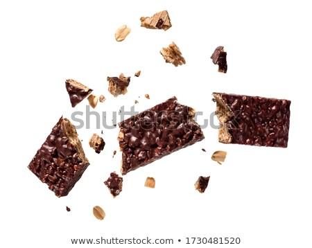Fehér barna étcsokoládé nápolyi izolált bár Stock fotó © magraphics